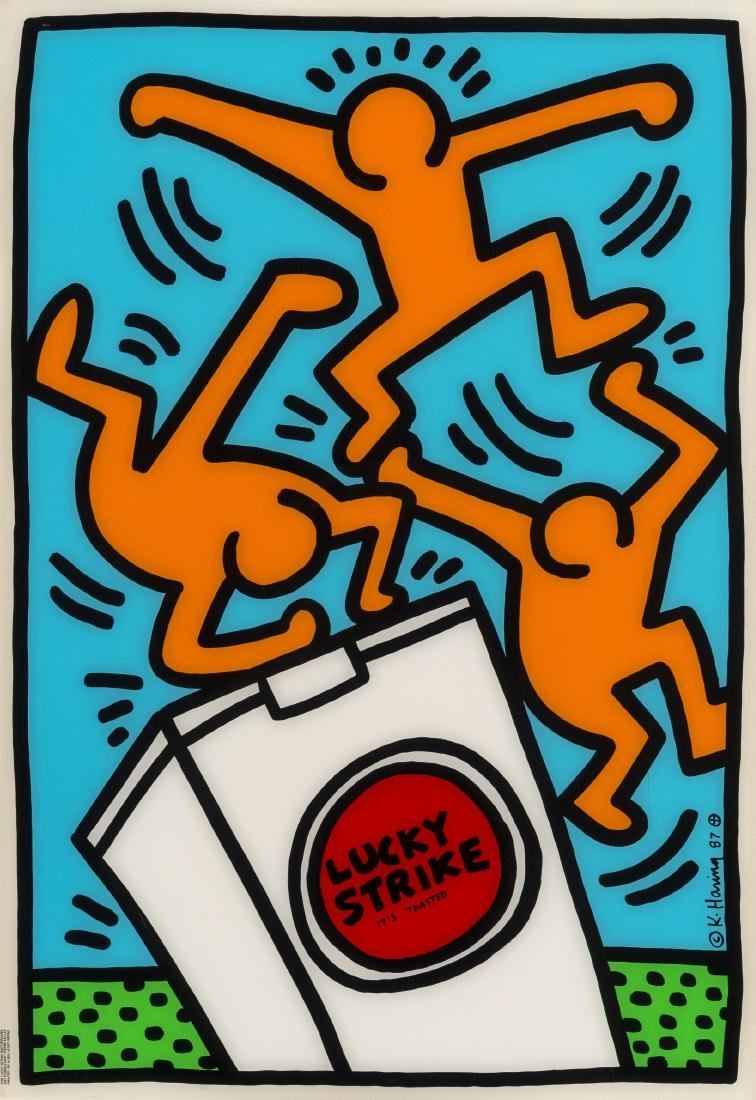 Keith Haring (1958-1990)  Lucky Strike It's Toasted