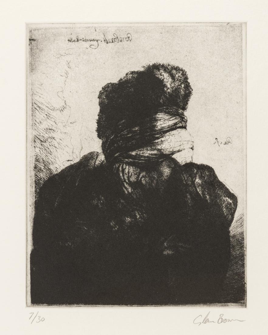 δ Glenn Brown (b.1966)  Layered Portraits (after