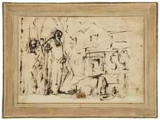 Rembrandt School.- Manner of Rembrandt van Rijn