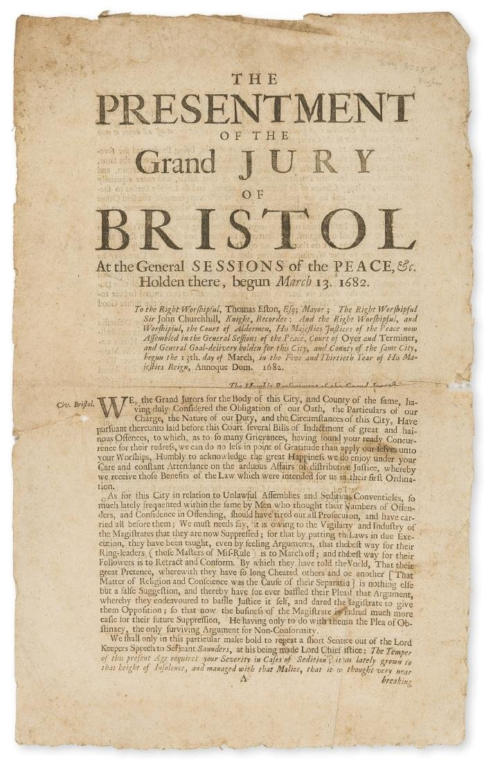 Bristol.-  Law.- The presentment of the Grand Jury of