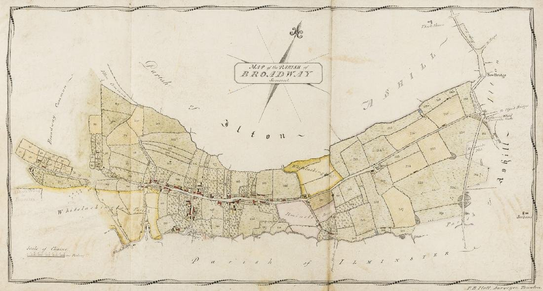 Somerset Estate Maps.- Map of the Parish of Broadway,