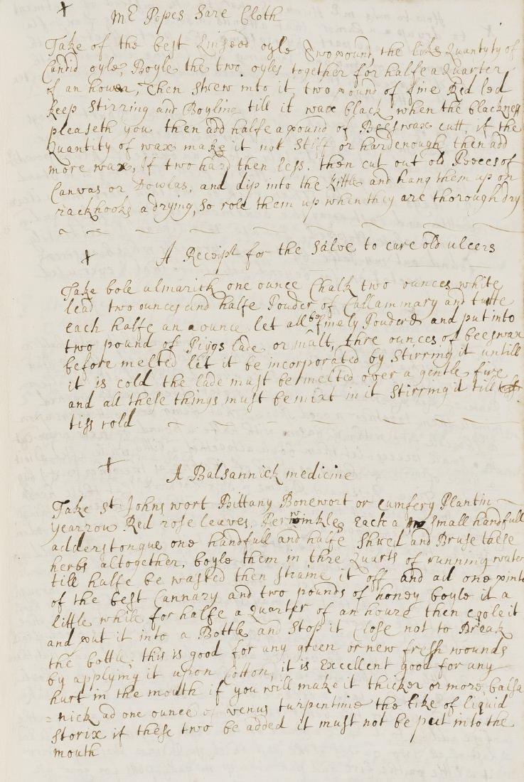 Medical Recipes.- Collection of recipes, manuscript,