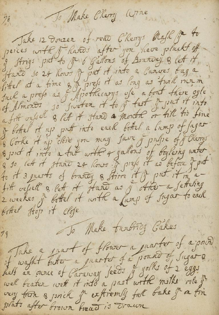Cookery Recipes.- [Collection of recipes], manuscript,