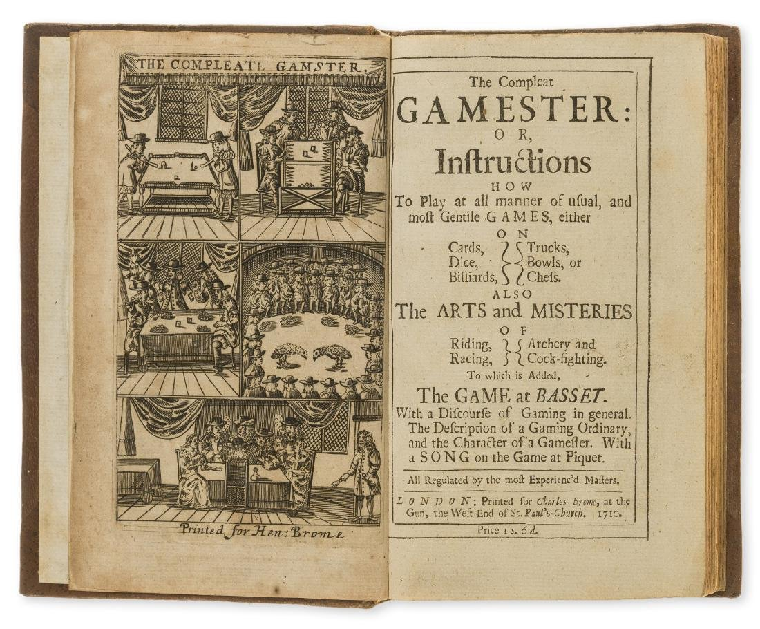 Games.- [Cotton (Charles)] The Compleat Gamester,