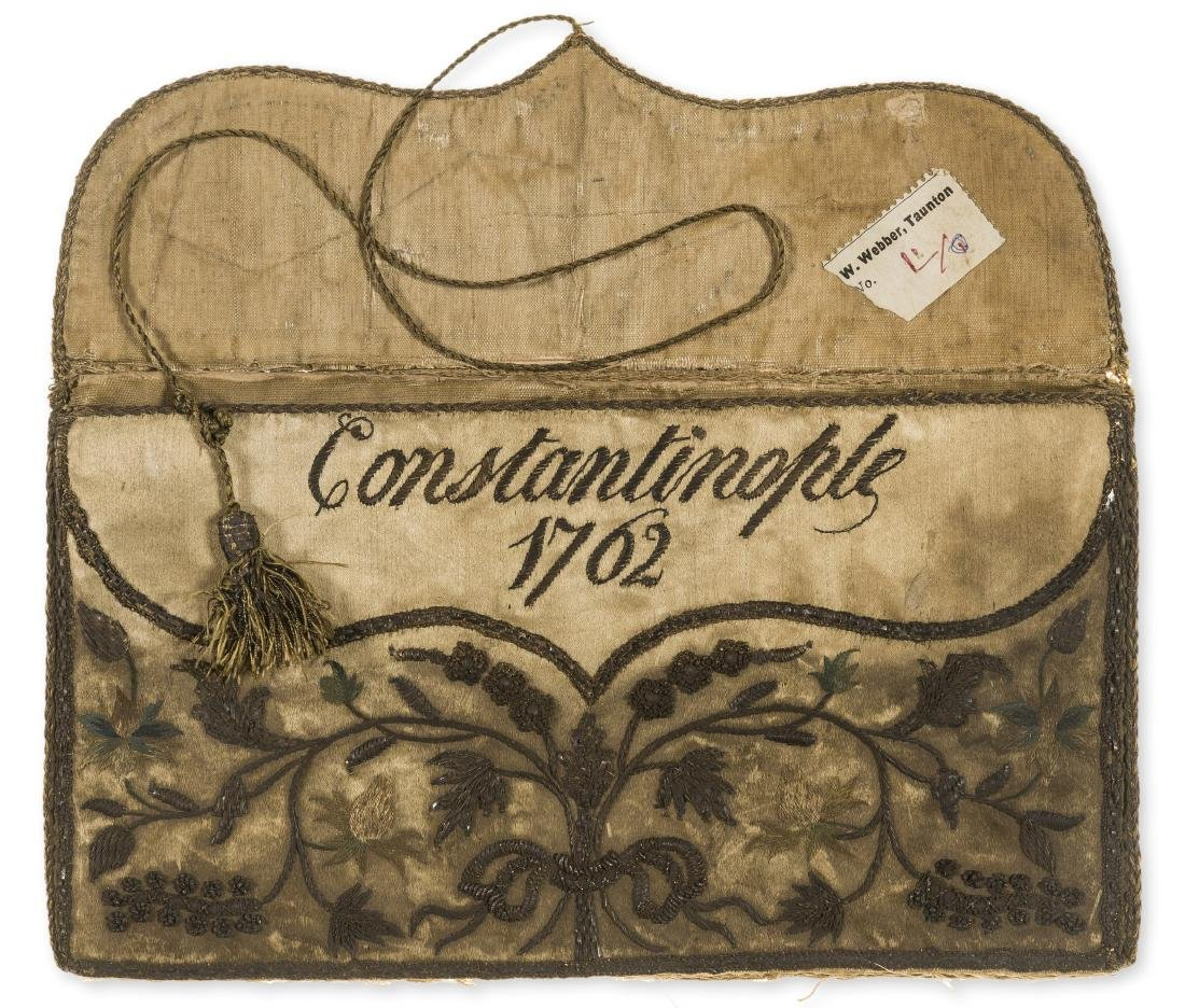 Embroidered binding.- Document wallet, Constantinople,