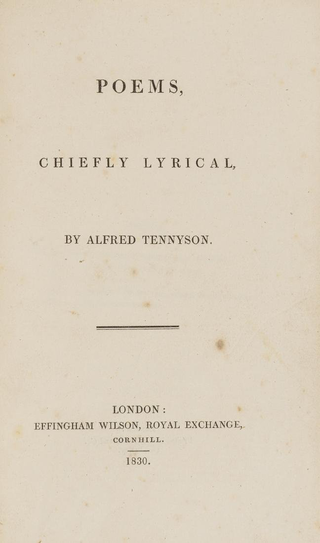 Tennyson (Alfred, Lord) Poems, Chiefly Lyrical, first
