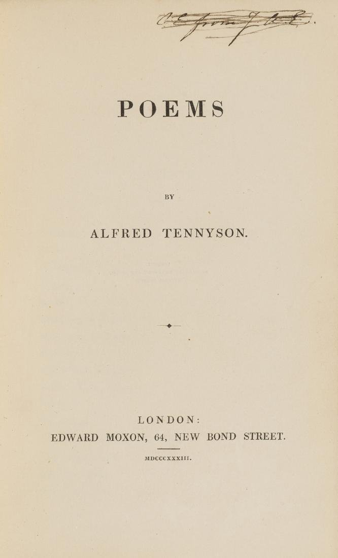 Tennyson (Alfred, Lord) Poems, first edition, 1833; and