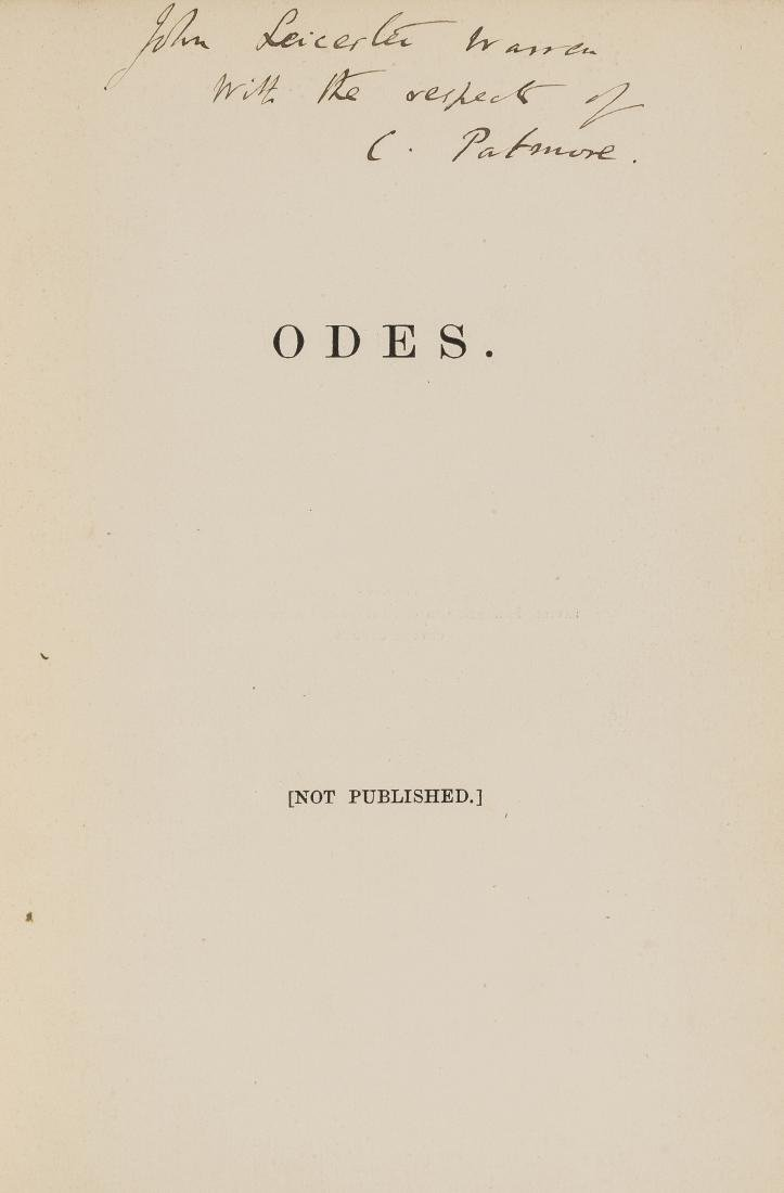 Patmore (Coventry) Odes, first edition, presentation