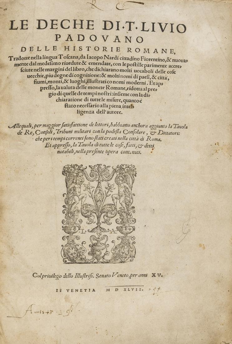 Livius (Titus) Le deche delle historia Romane, rare