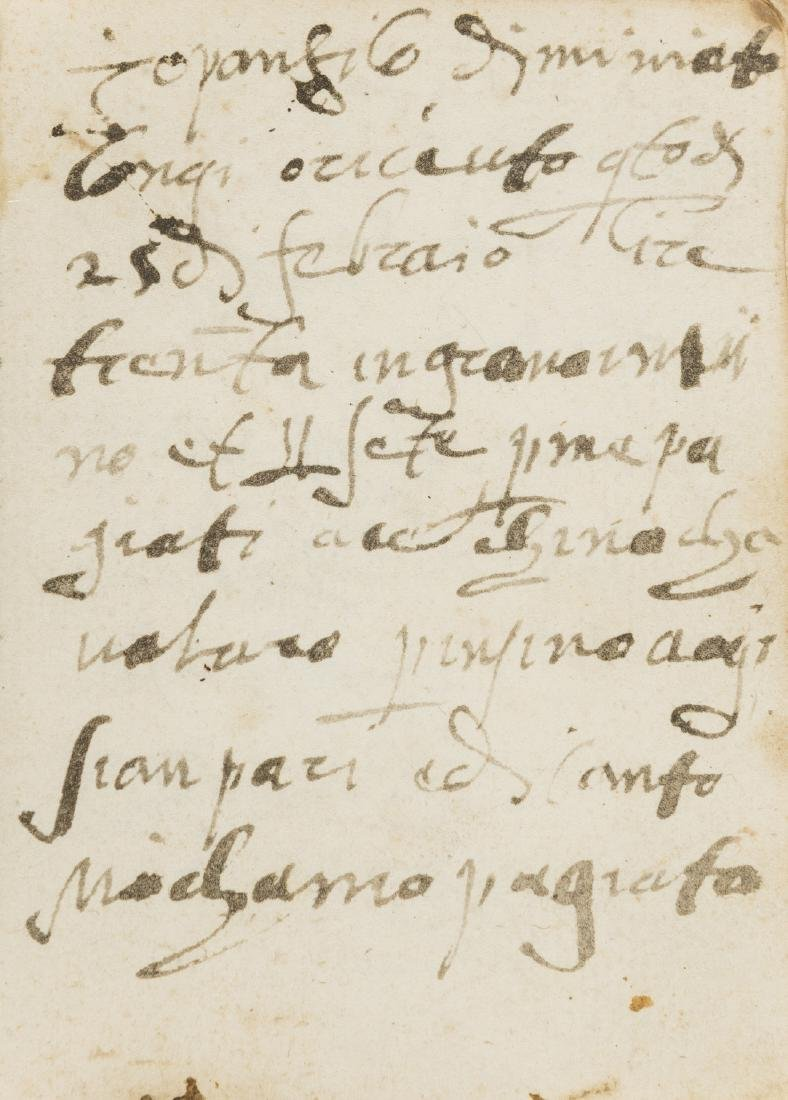 Italy.- Letter Book, manuscript in Italian, 1586; and