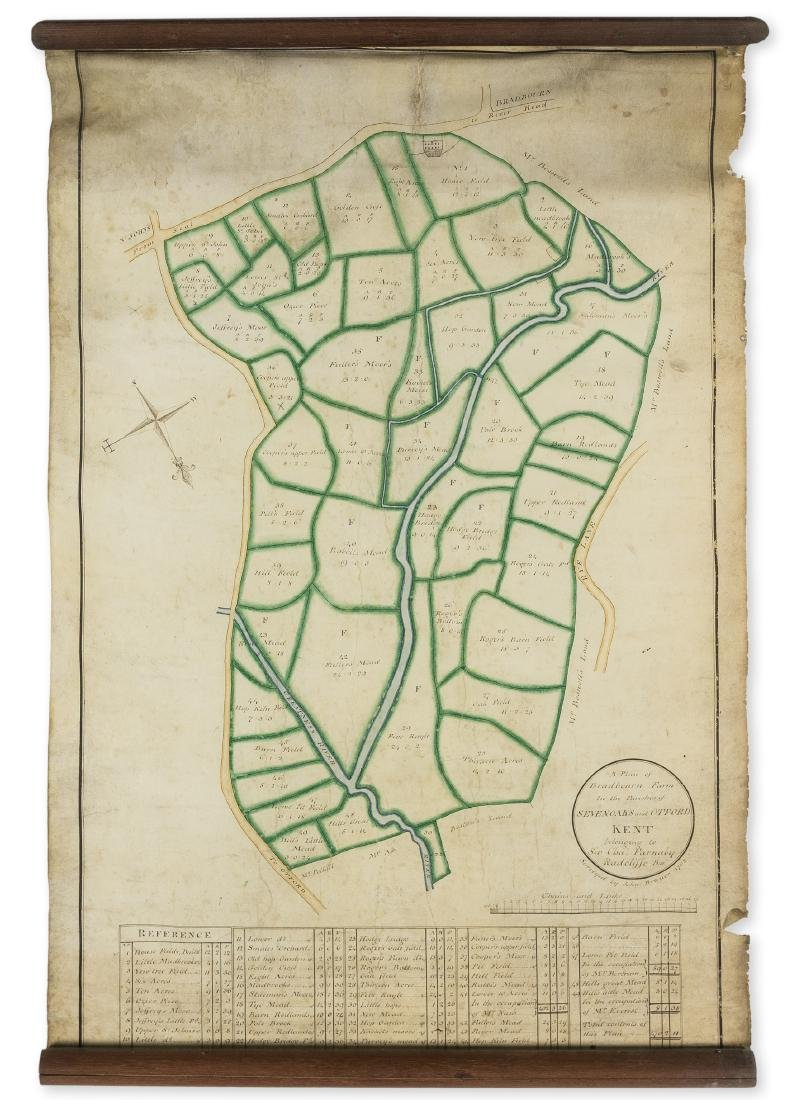 Kent.- A Plan of Bradbourn Farm in the Parishes of