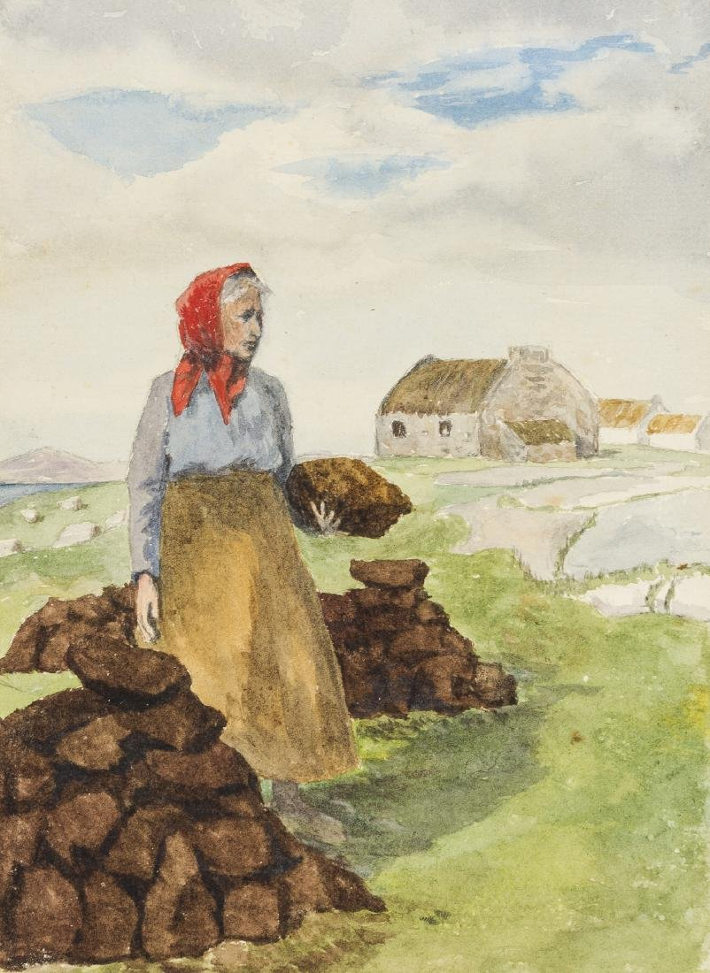 Ireland.- Donegal.- 2 albums of watercolour views of