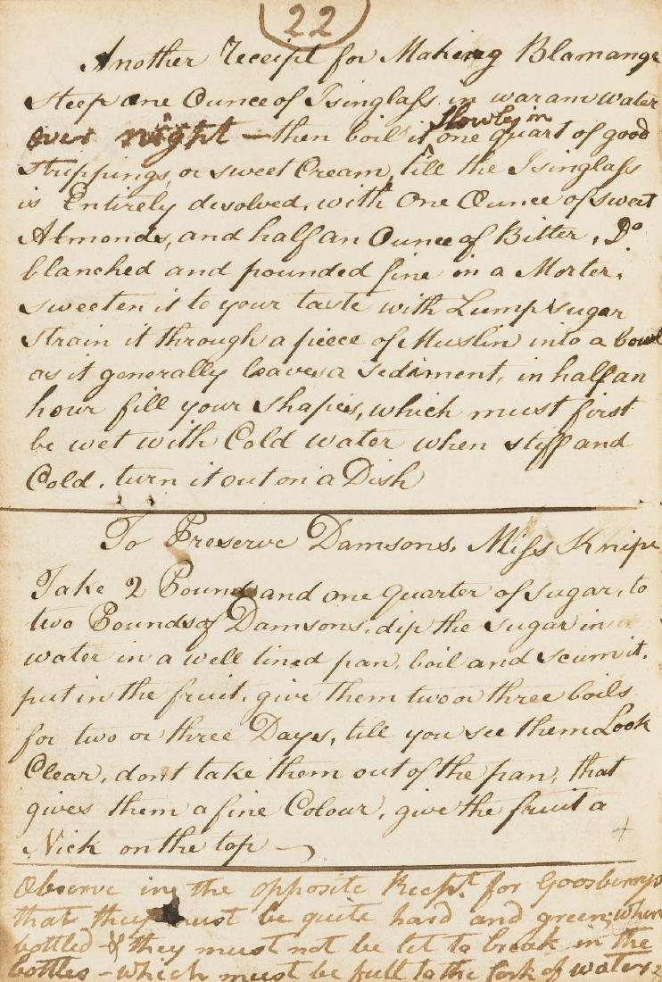 Irish Cookery Recipes.- [Collection of recipes, mostly