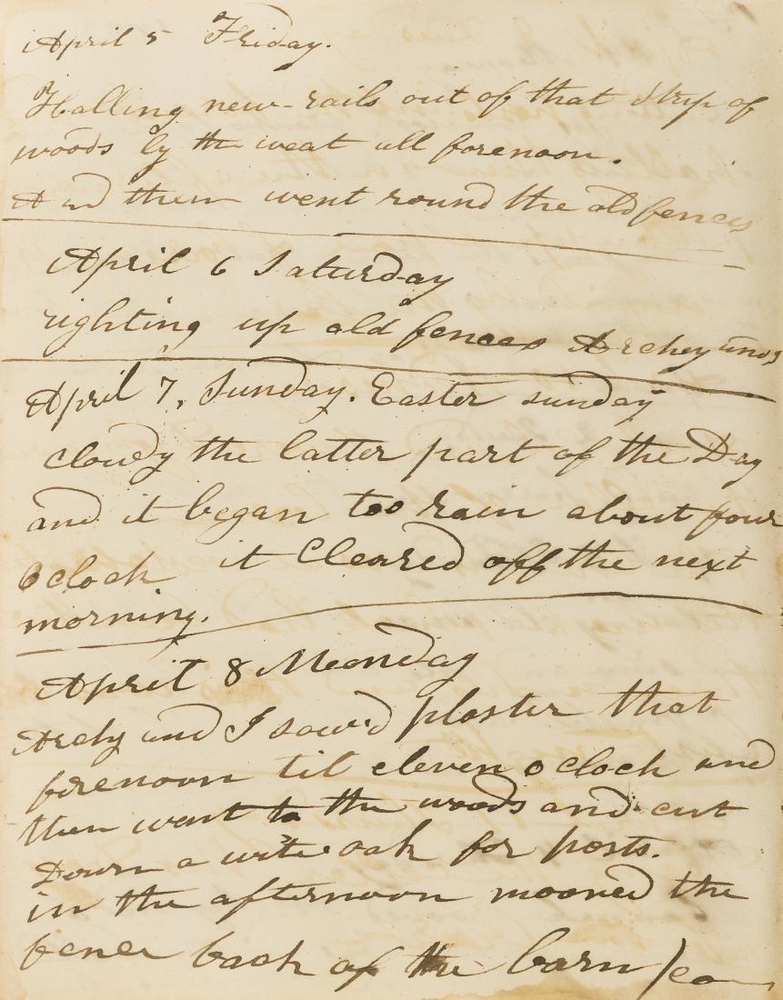 Pennsylvania Farm Boy.- Diary, autograph manuscript,