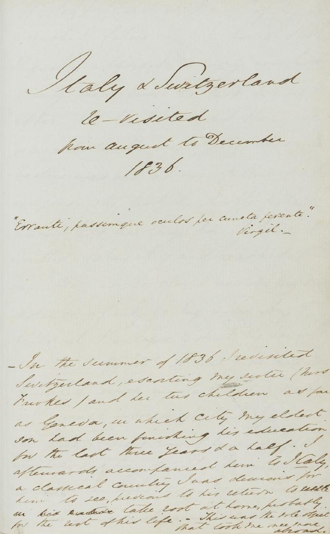 Switzerland & Italy.- Milford (John) Postscriptum...