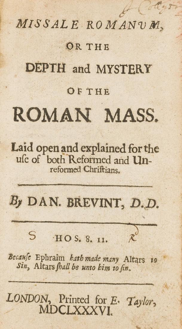 Brevint (Daniel) Missale Romanum, 1686.