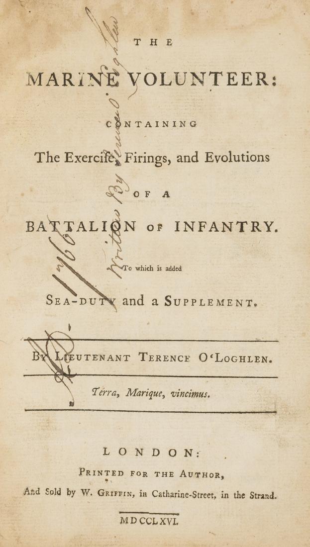 O'Loghlen (Terence) The Marine Volunteer, 1766.