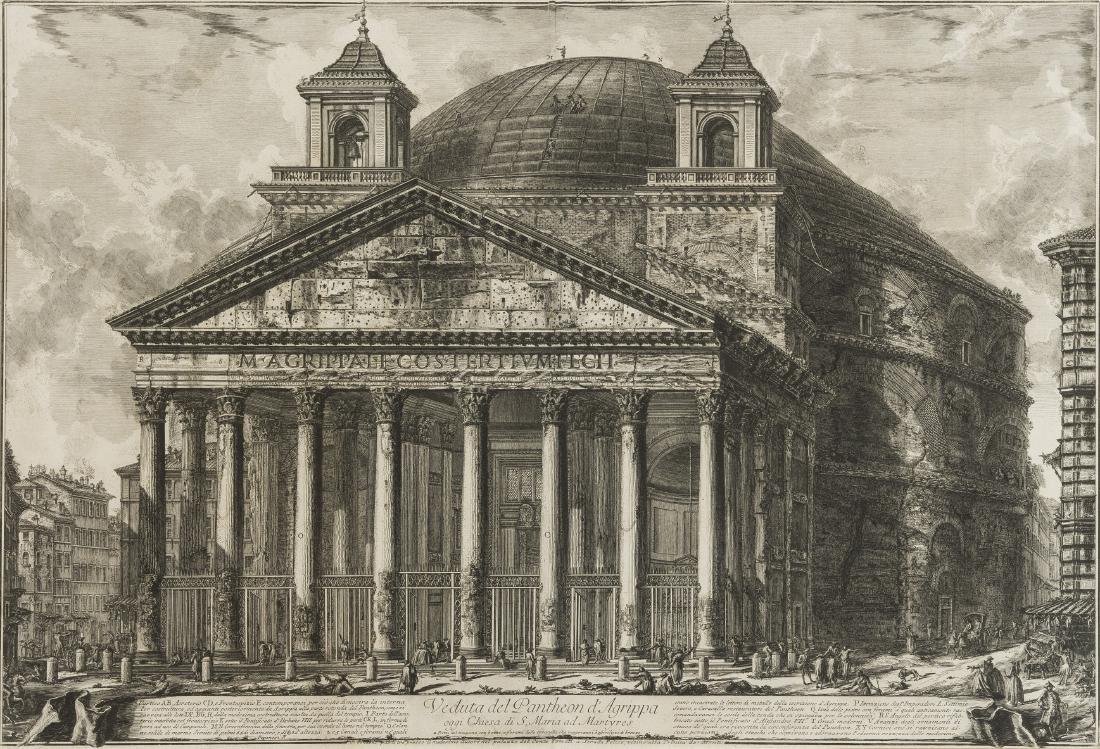 Piranesi (Giovanni Battista) Veduta del Pantheon