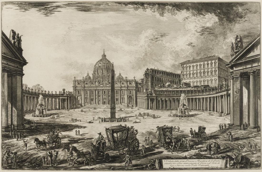 Piranesi (Giovanni Battista) Veduta della gran Piazza e