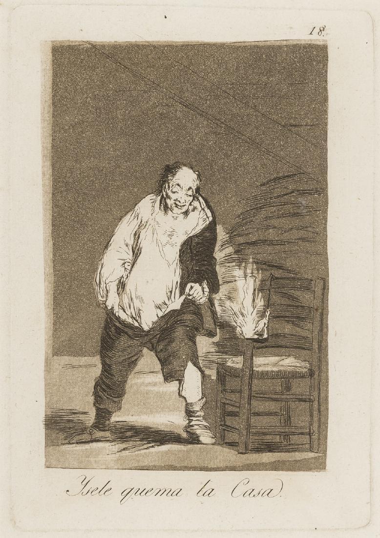Goya (Francisco, 1746-1828) Ysele quema la Casa, pl. 18