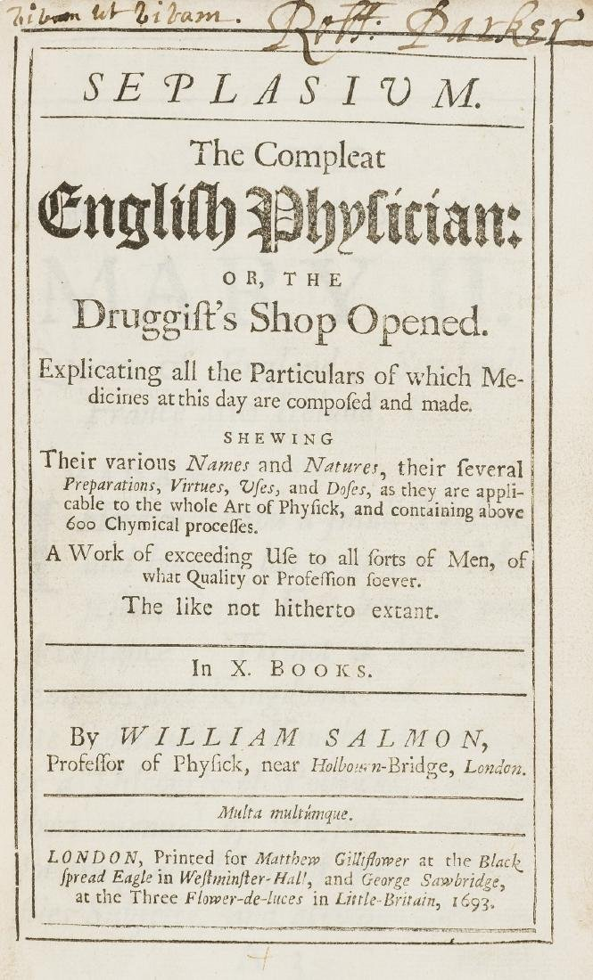 Salmon (William) Seplasium. The Compleat English