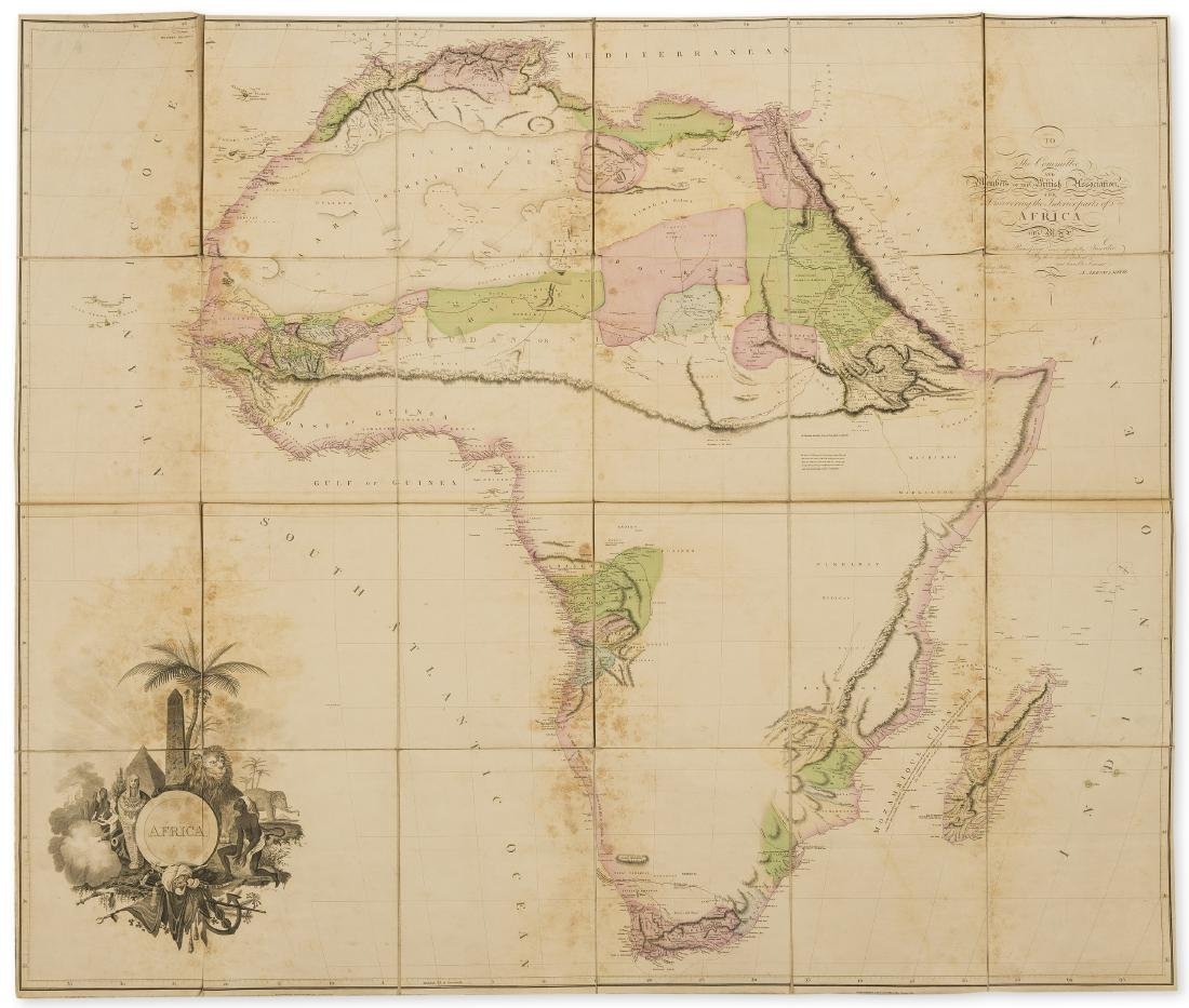 Africa.- Arrowsmith (Aaron) Africa, large folding map