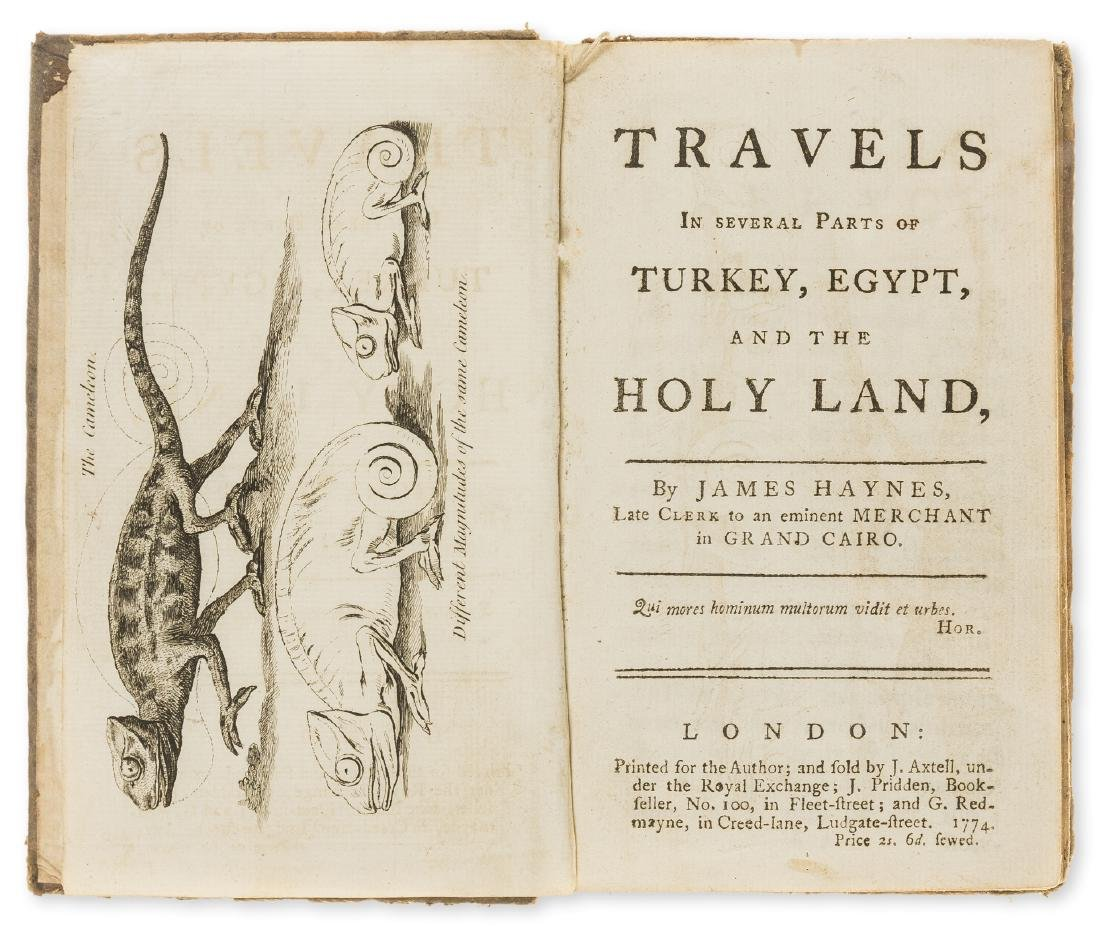 Levant.- Hayes (James) Travels in Several Parts of