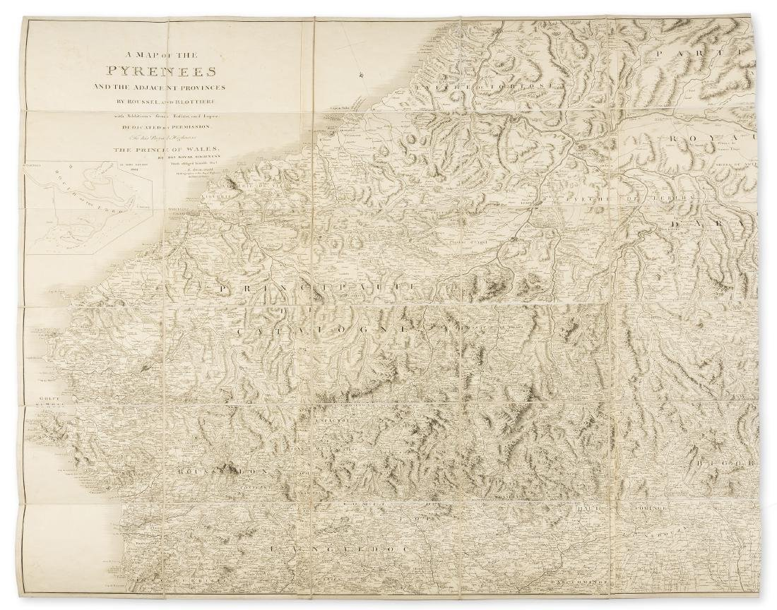 Pyrenees.- Arrowsmith (Aaron) A Map of the Pyrenees and