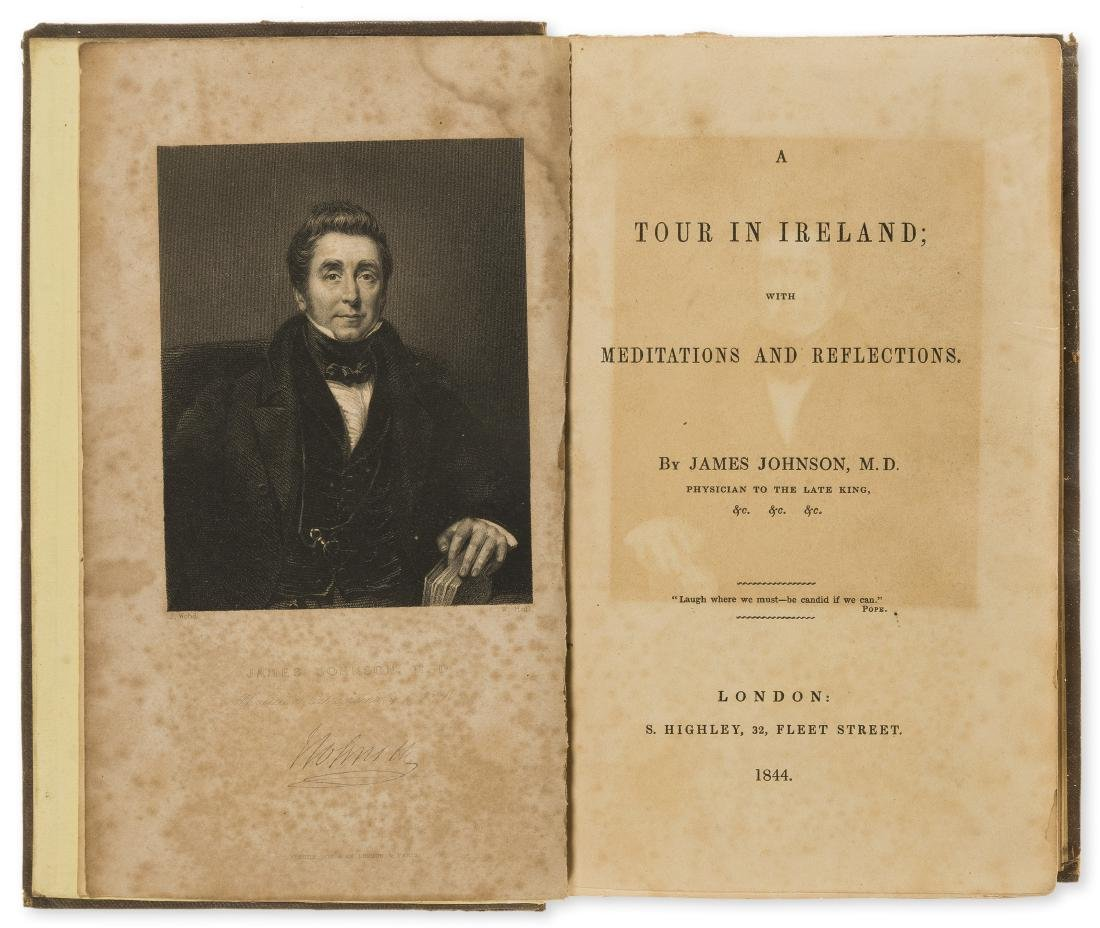Ireland.- Johnson (James) A Tour in Ireland, 1844; and