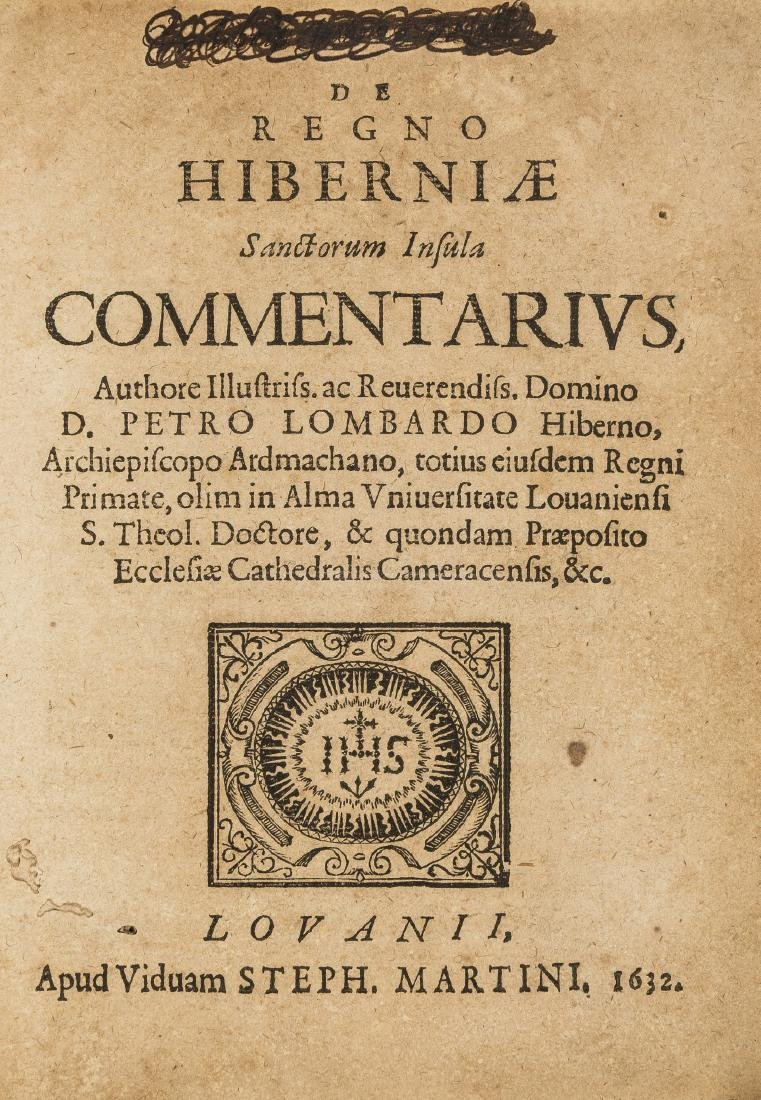 Ireland.- Lombard (Peter) De regno Hiberniae Sanctorum