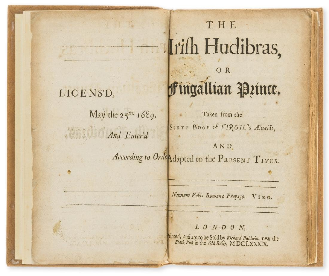 Ireland.- [Farewell (James)] The Irish Hudibras, first