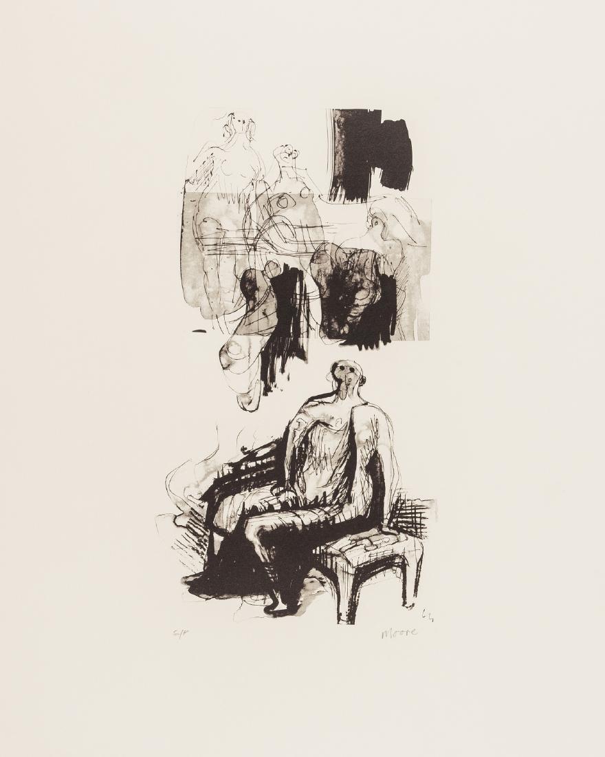 δ Henry Moore (1898-1986)  Woman Seated on