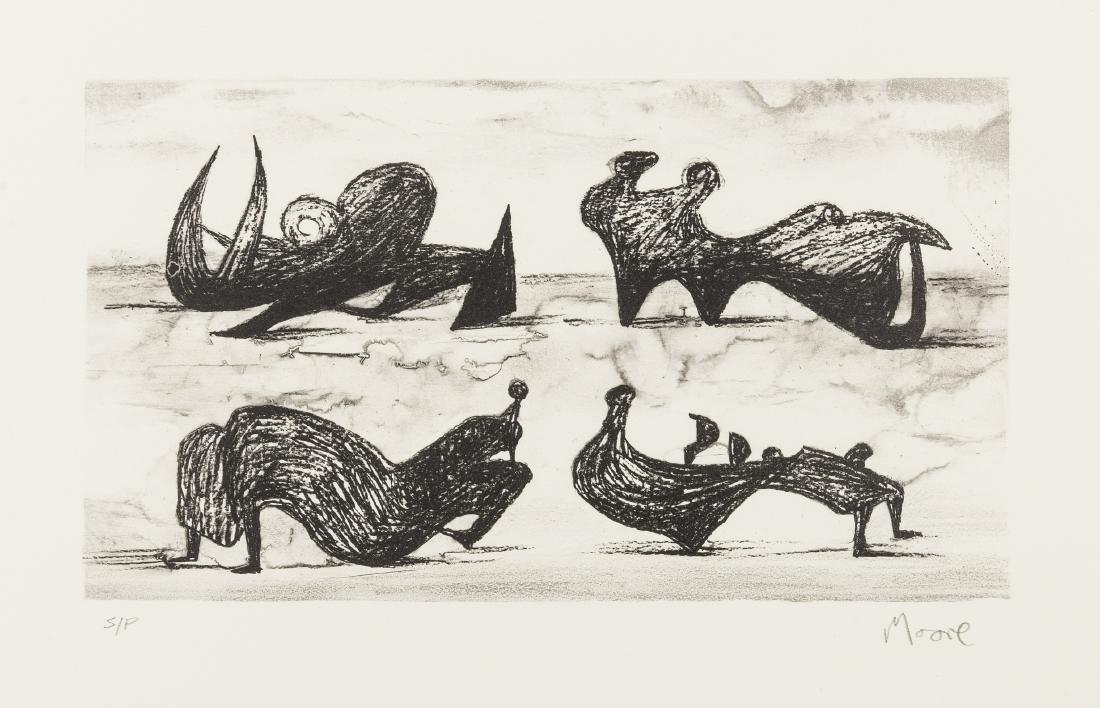 δ Henry Moore (1898-1986)  Four Silhouette Figures