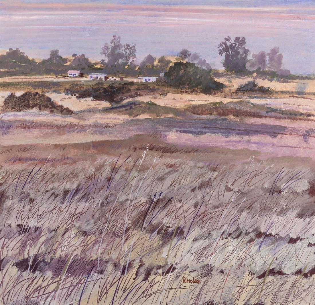 Leon Pericles (b.1949)  Outback farm