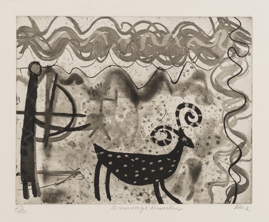 δ Barbara Rae (b.1943)  Anasazi Hunter