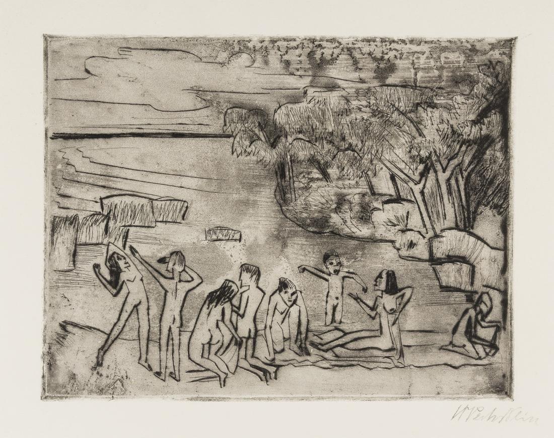 δ Hermann Max Pechstein (1881-1955)  Am Ufer