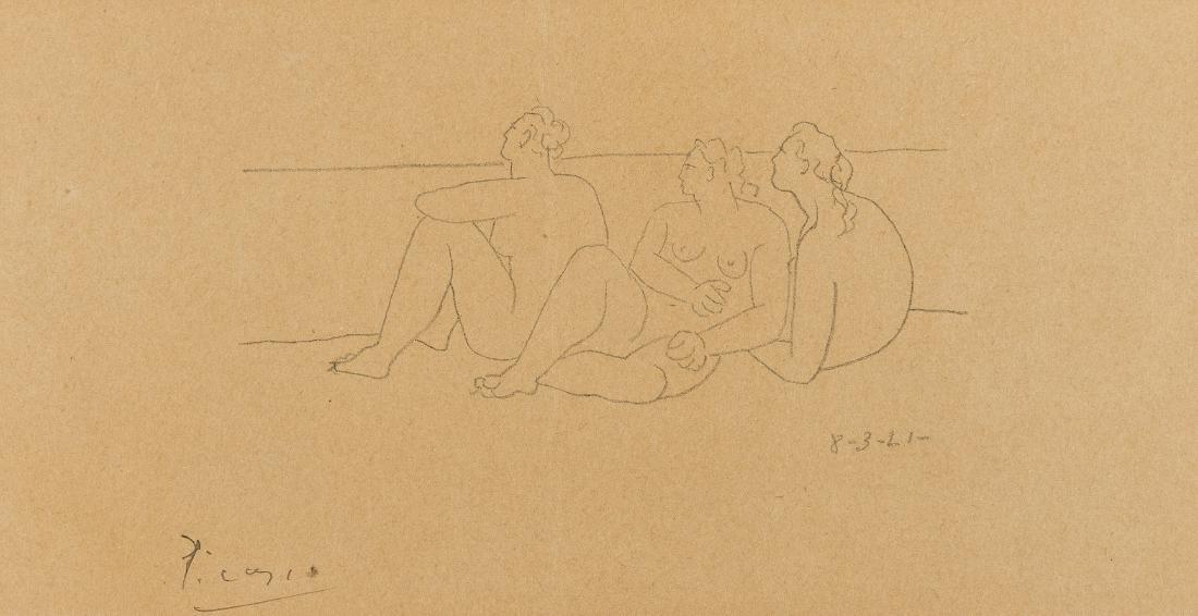 δ Pablo Picasso (1881-1973)  Sur la Plage II (3