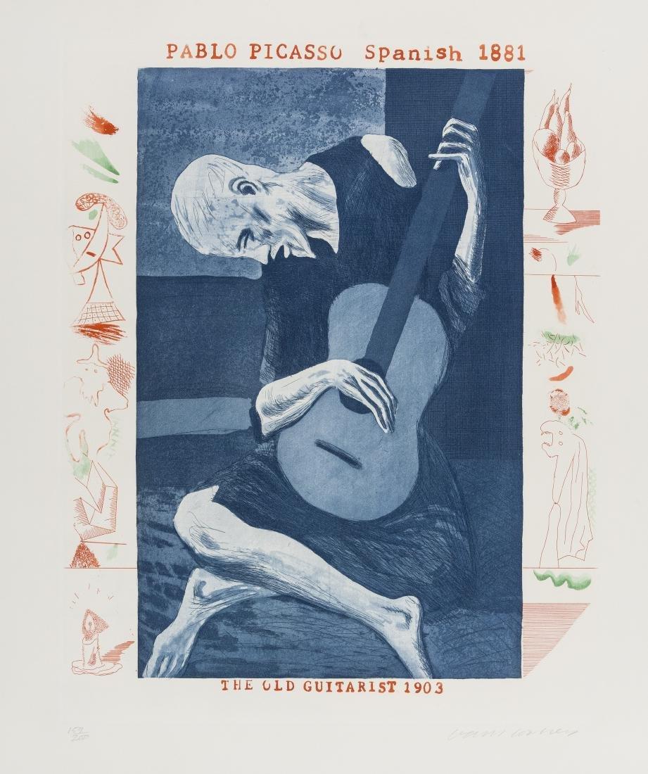 δ David Hockney (b.1937)  The Old Guitarist (from