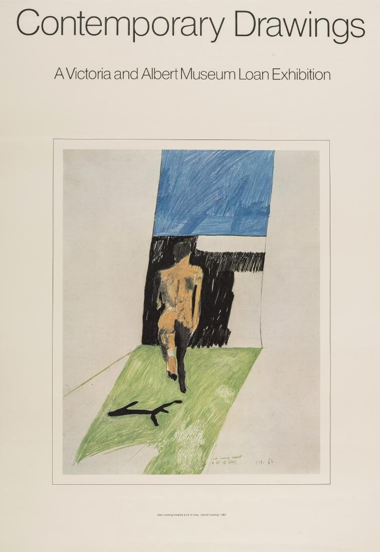 David Hockney (b.1937) (after)  Poster for Contemporary