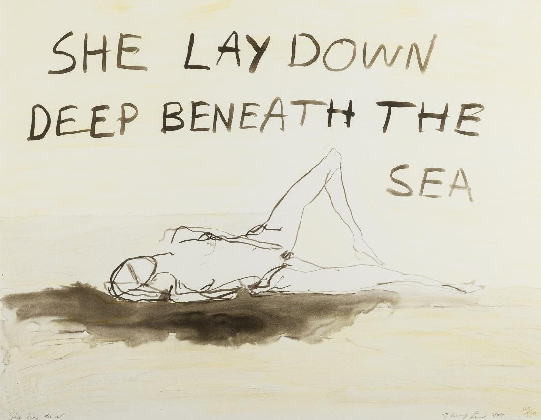 δ Tracey Emin (b.1963)  She lay deep down beneath