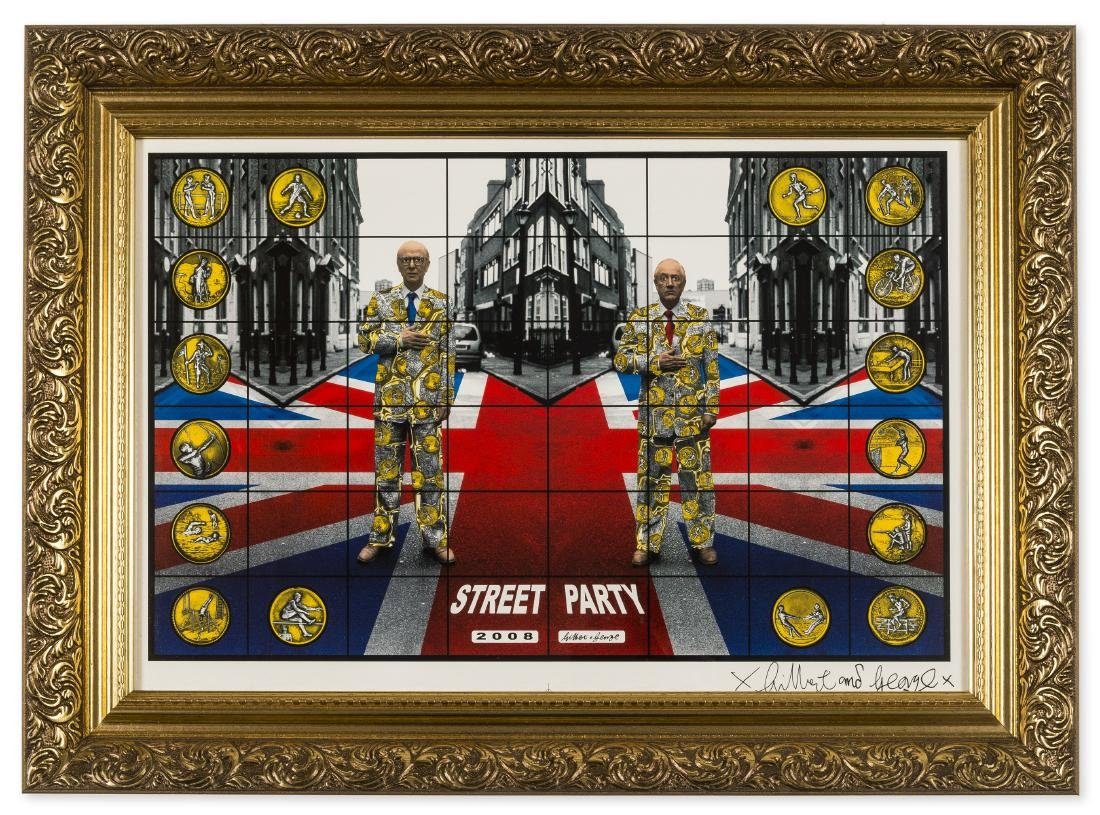 δ Gilbert & George (b.1943 & 1942)  Street Party