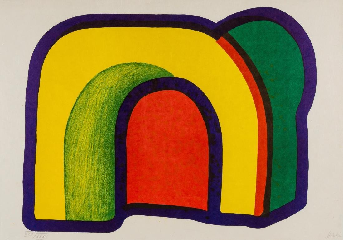 δ Howard Hodgkin (1932-2017)  Composition with Red