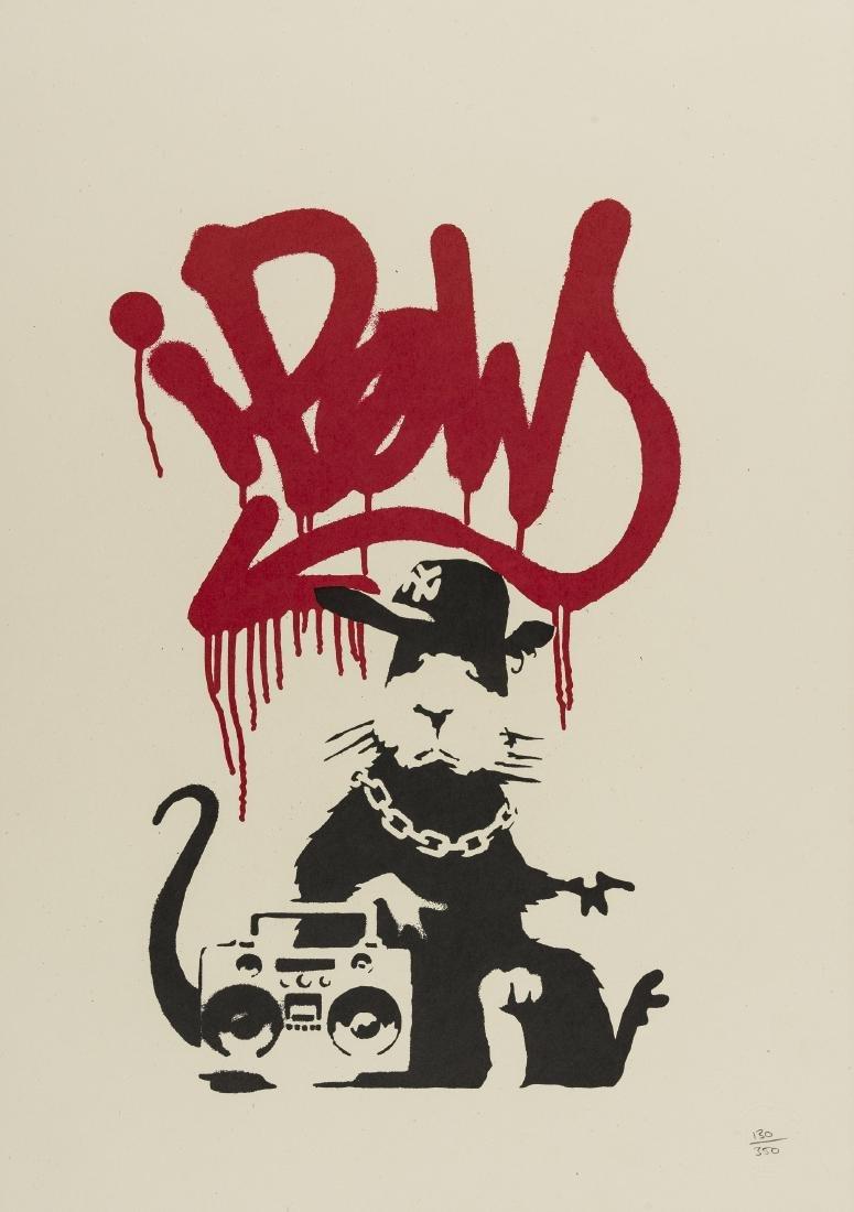 δ Banksy (b.1974)  Gangsta Rat