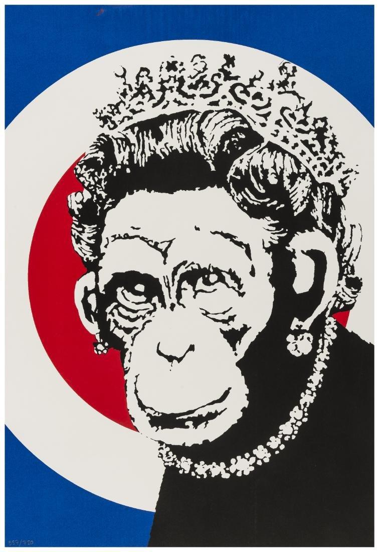 δ Banksy (b.1973)  Monkey Queen