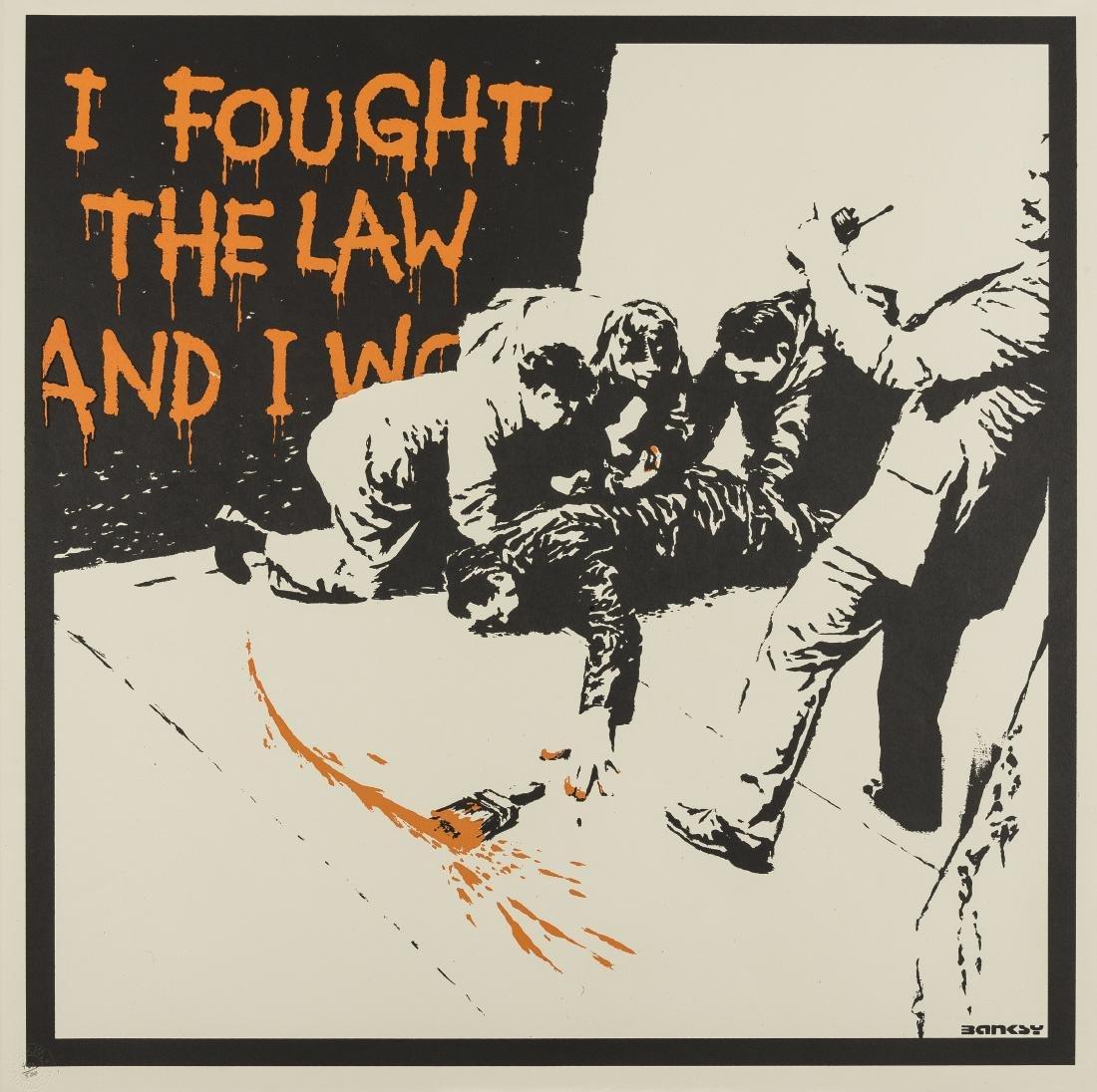 δ Banksy (b.1974)  I Fought the Law