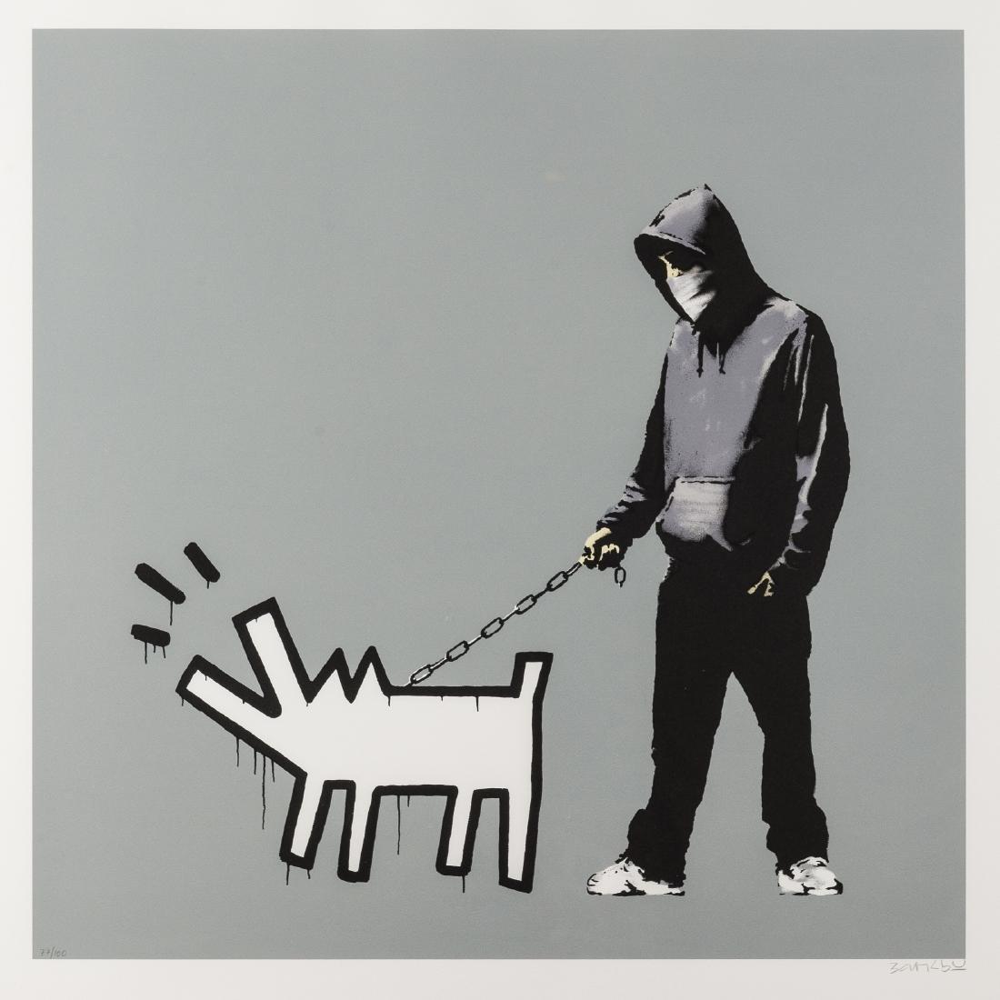 δ Banksy (b.1974)  Choose Your Weapon (Cool Grey)