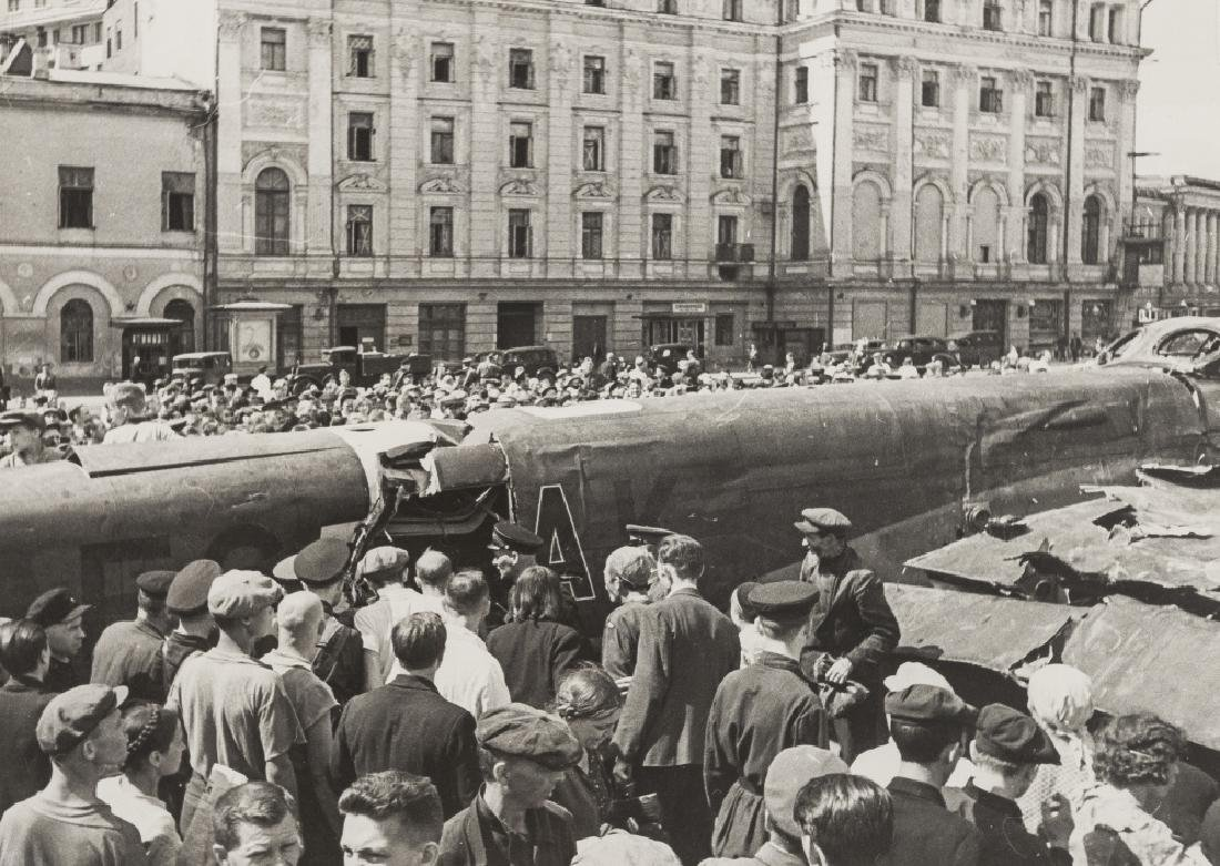 Ivan Shagin (1904-1982) Nazi Aeroplane Shot Down on