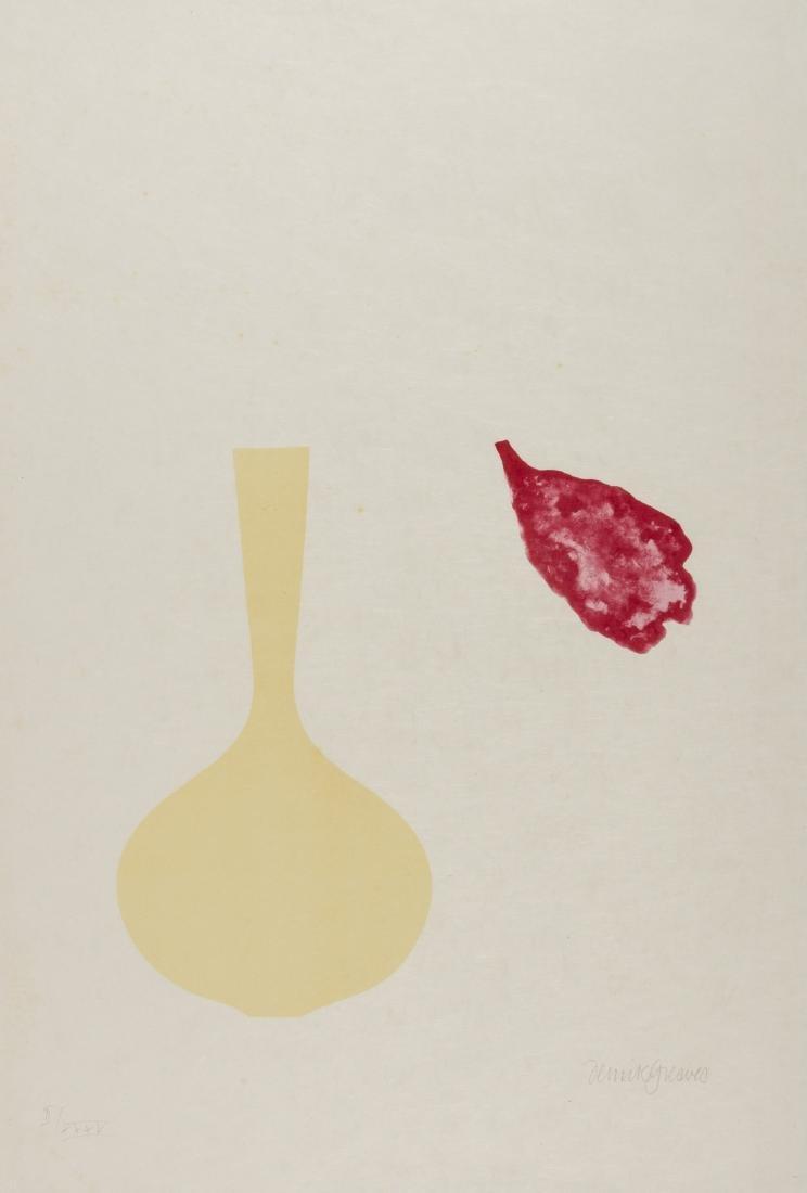 δ Derrick Greaves (b.1927)  Vase and Falling Petal