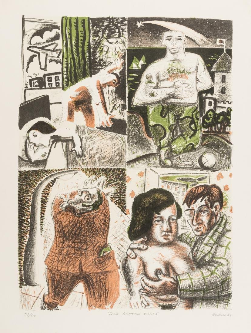 δ Peter Howson (b.1958)  Four Scottish Scenes
