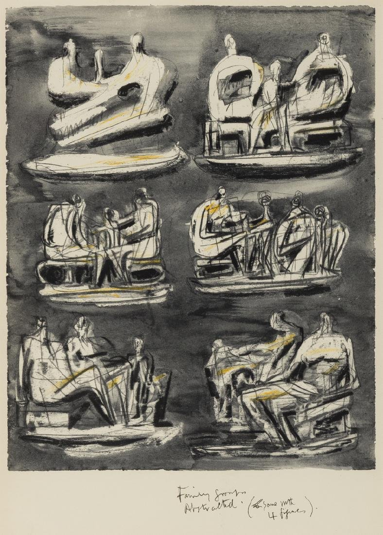 Henry Moore (1898-1986) (after)  Four Plates from